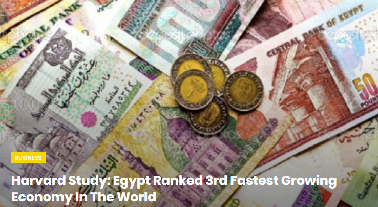 Egypt is ranked as 3rd Fastest Growing Economy in The World